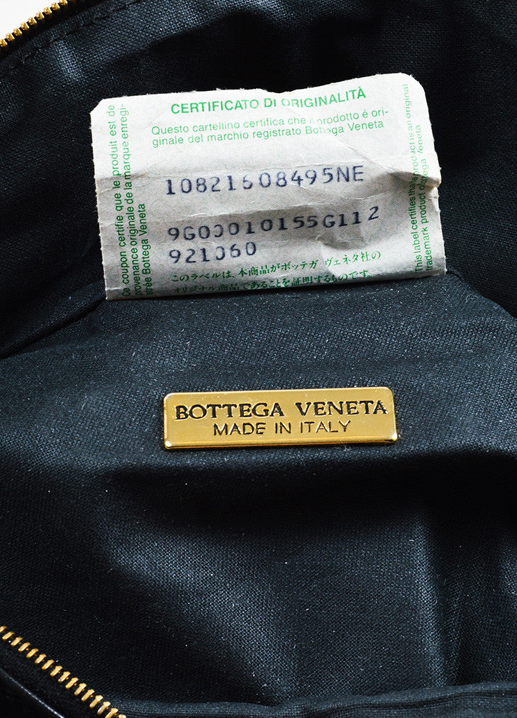Bottega Veneta Black Leather and Gold Toned Metal Fanny Pack Hip Bag Brand