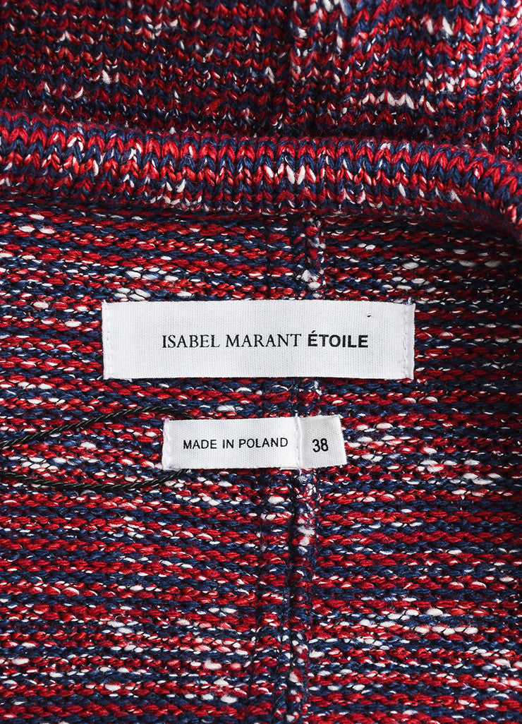 Red, White, and Blue Isabel Marant Etoile Woven Knit Jacket Brand