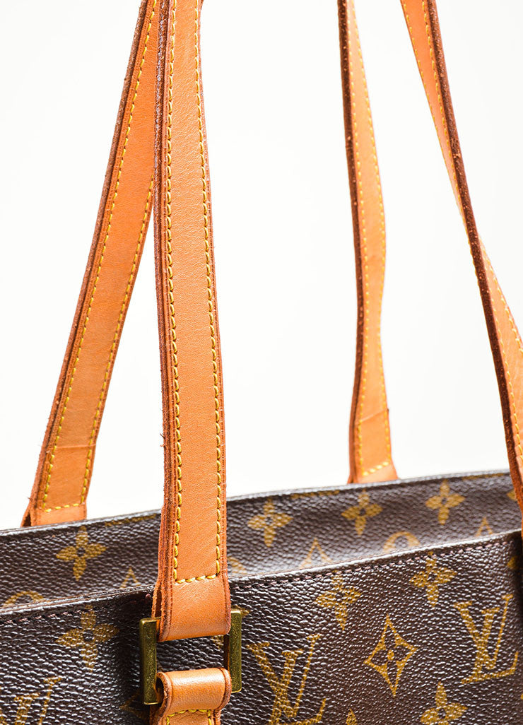 Brown Tan Louis Vuitton Monogram Canvas Luca Tote Bag Handle