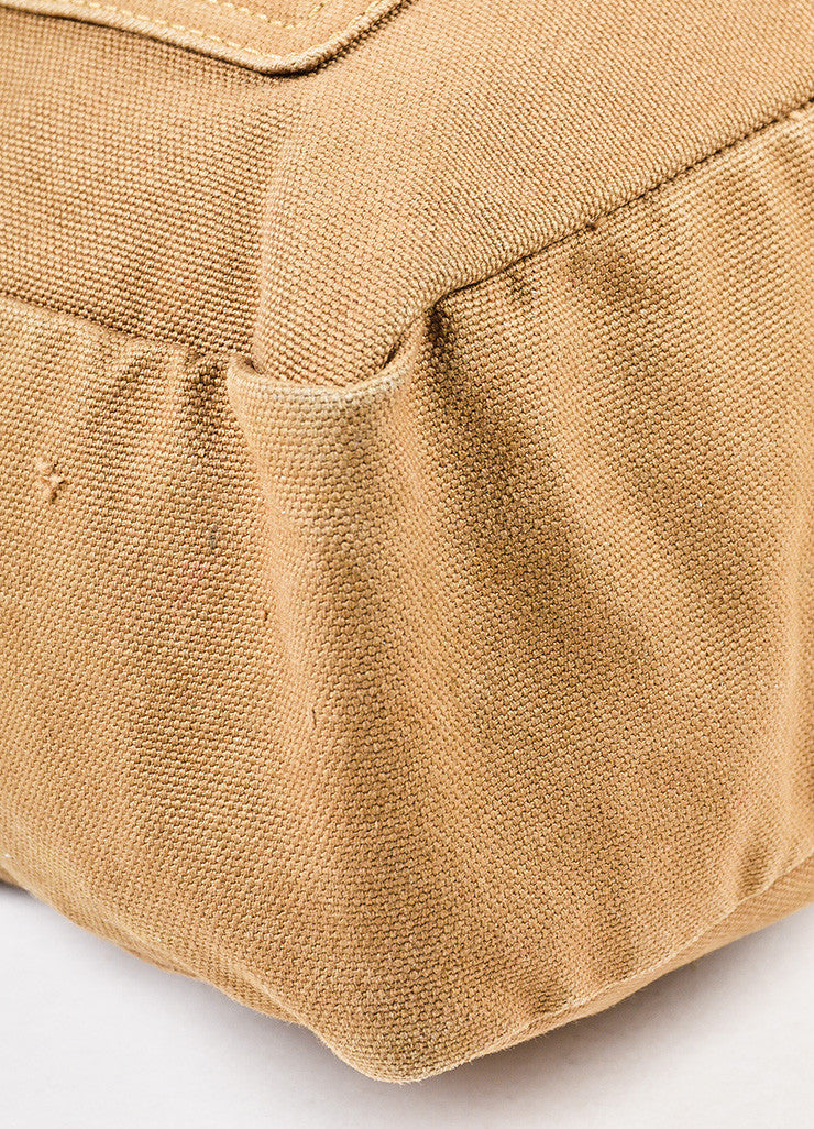 "Louis Vuitton Limited Edition Olive Green Canvas ""That's Love GM"" Tote Bag Detail"