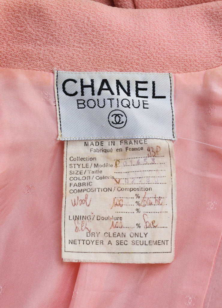 Chanel Light Pink Wool Jacket Brand