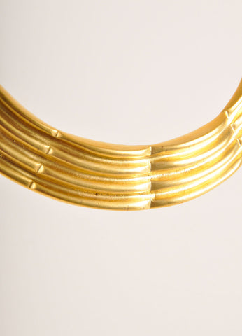 Alexis Kirk Gold Toned Textured Articulated Choker Necklace Detail