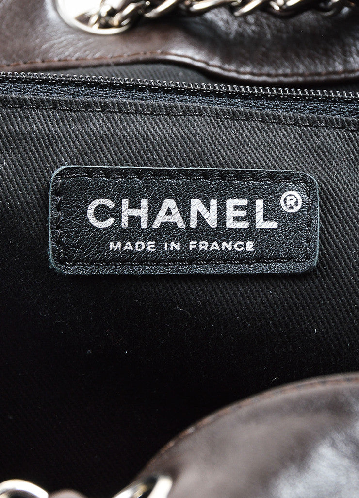 Brown Chanel Leather Diamond Stitching 'CC' Shoulder Bag Brand