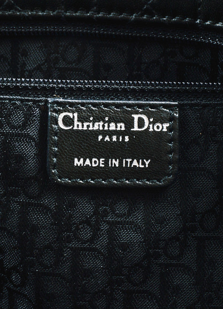 "å´?ÌÜChristian Dior Black ""Cannage"" Quilted Leather Large ""Lady Dior"" Tote Bag Brand"