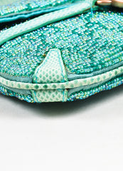 Gucci Green Beaded Lizard 'GG' Mini Flap Handbag Detail 2