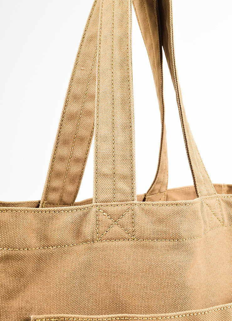 "Louis Vuitton Limited Edition Olive Green Canvas ""That's Love GM"" Tote Bag Detail 2"