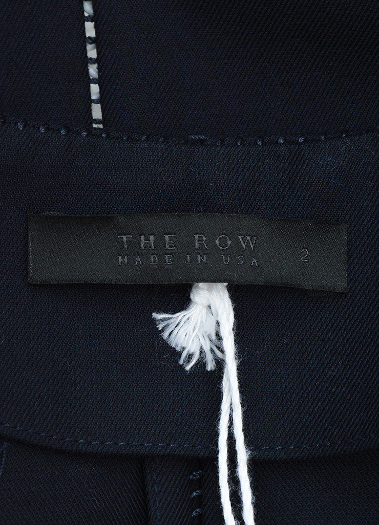 "The Row Navy Cotton Stitched Short Sleeve ""Lero"" Cropped Jacket Brand"