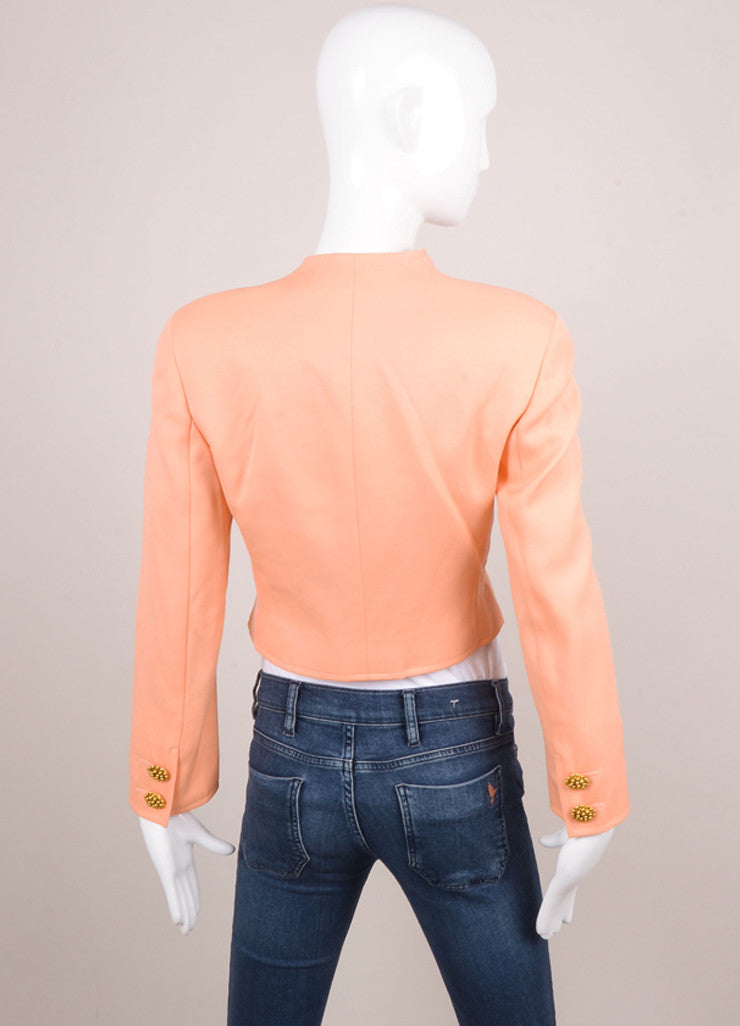 Peach Wool Cropped Jacket