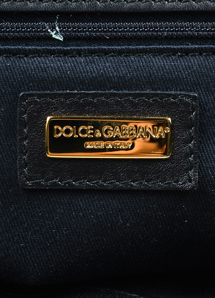 "Dolce & Gabbana Cream and Brown Pony Hair Leopard Print ""Miss Sicily"" Bag Brand"