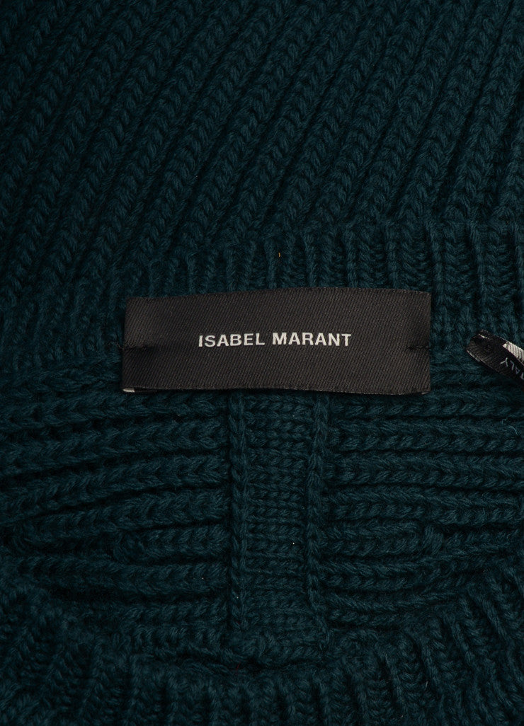 "Isabel Marant New With Tags Dark Green Chunky Wool Knit ""Nils Montaign"" Sweater Brand"
