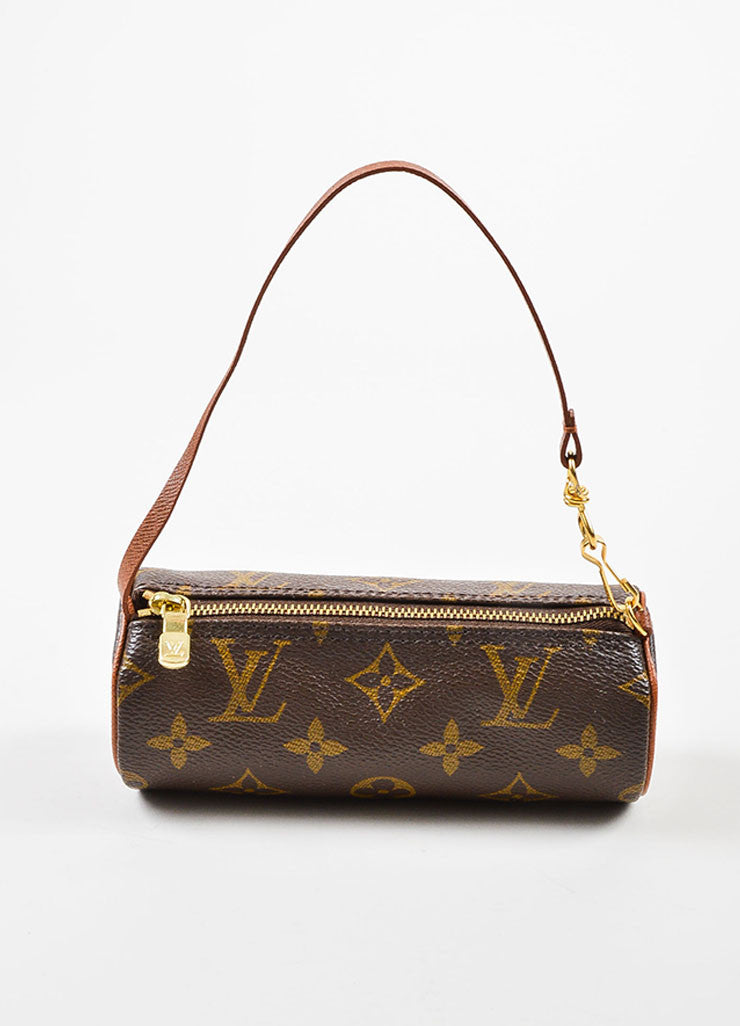 "Louis Vuitton Tan and Brown Coated Canvas Monogram ""Mini Papillon Pochette"" Bag Frontview"