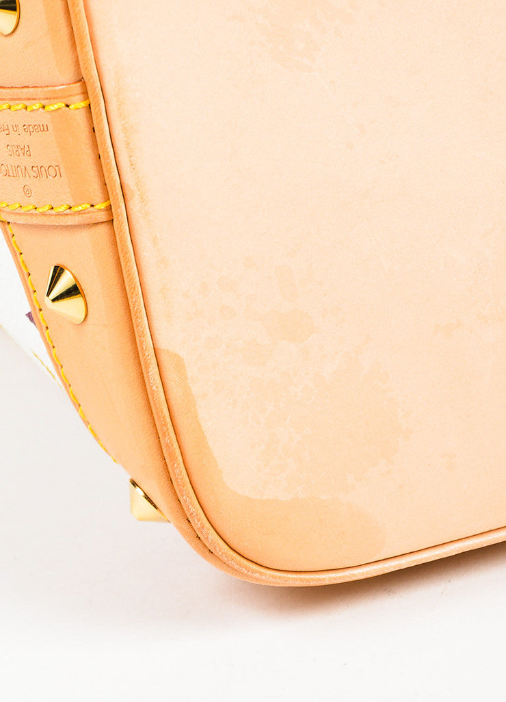 "Louis Vuitton White ""Multicolore Monogram Alma"" Canvas & Leather Trim Bag Detail 2"