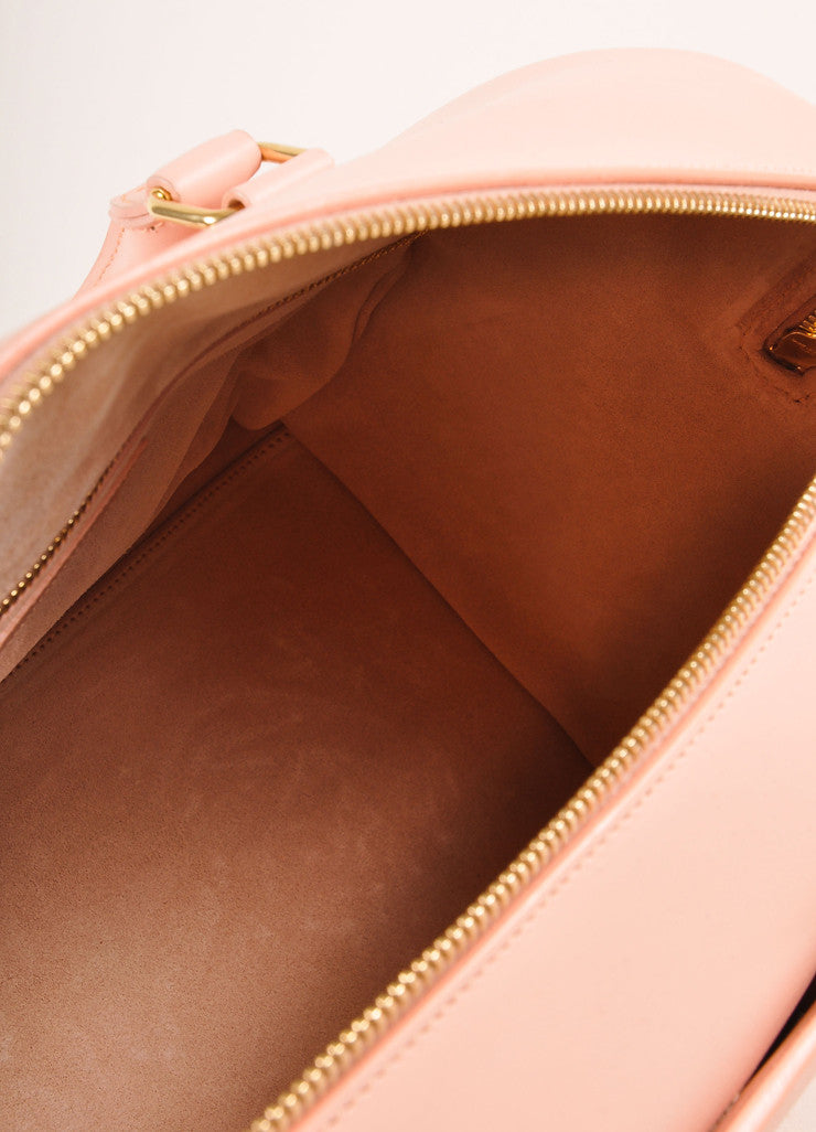"Saint Laurent New With Tags Light Pink Leather ""Classic Duffle 6"" Handbag Interior"