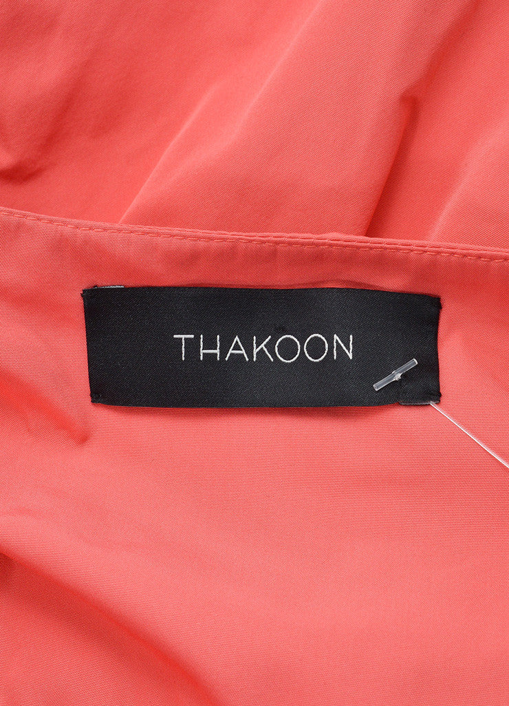 Coral Thakoon Ruched Tie Back Bustle High Low Skirt Brand