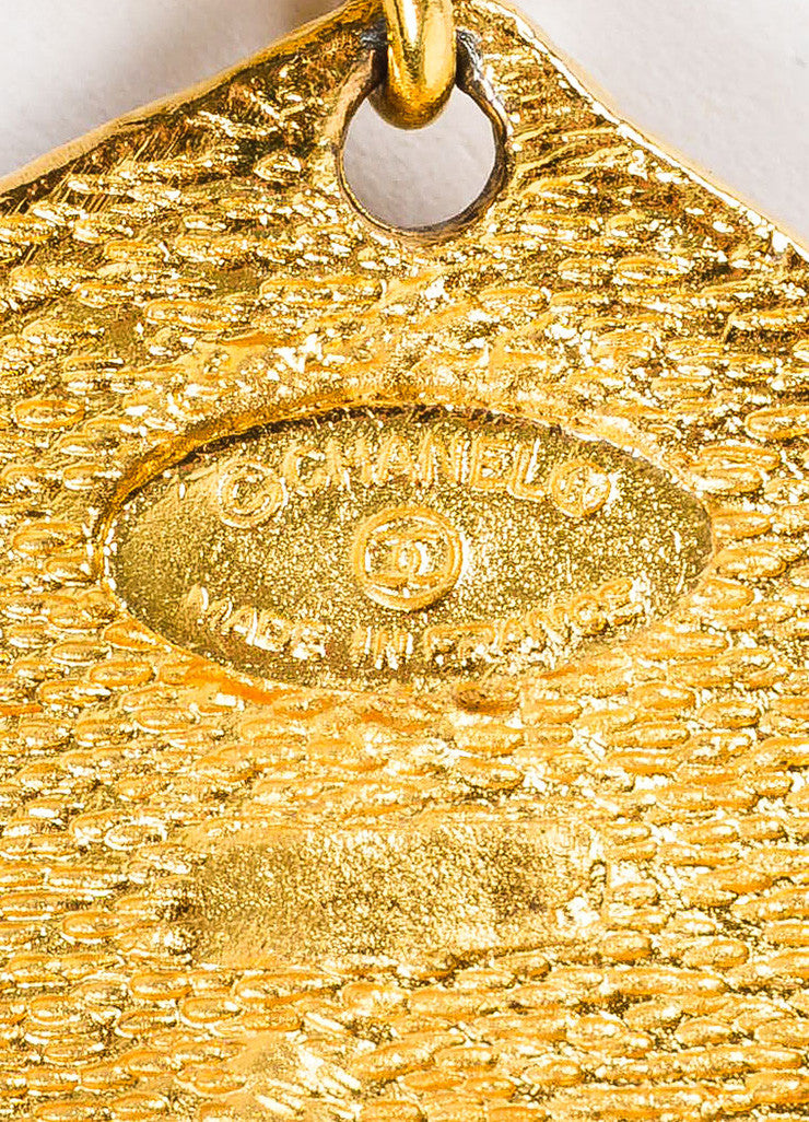 Chanel Gold Toned 'CC' Logo Crown Medallion Coin Link Belt Brand 2