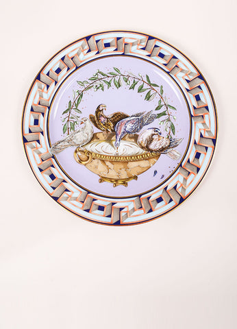 "Versace Rosenthal ""A World of Peace"" 12 inch Limited Edition Service Plate Frontview"