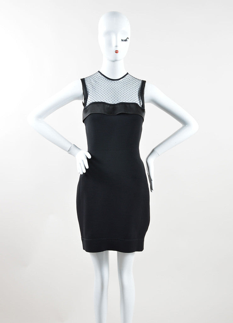 Victoria Beckham Black Silk and Wool Sleeveless Dress Front