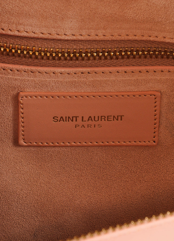 "Saint Laurent New With Tags Grey Leather ""Classic Duffle 6"" Bag Brand"