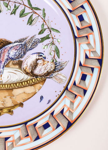 "Versace Rosenthal ""A World of Peace"" 12 inch Limited Edition Service Plate Detail"