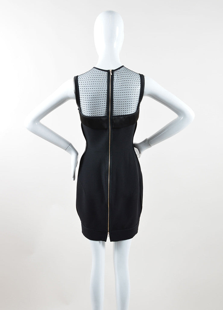 Victoria Beckham Black Silk and Wool Sleeveless Dress Back