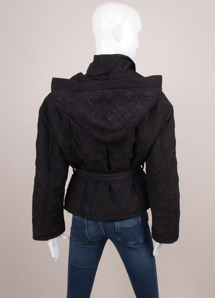 Black Quilted Belted Jacket