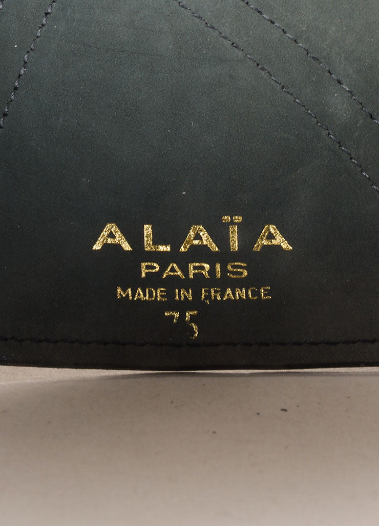 Alaia Black Leather Wide Belt Brand