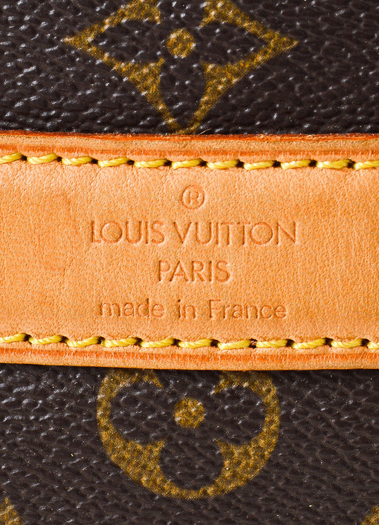"Louis Vuitton Brown and Tan Coated Canvas and Leather Monogram Logo ""Dog Carrier 50"" Bag Brand"