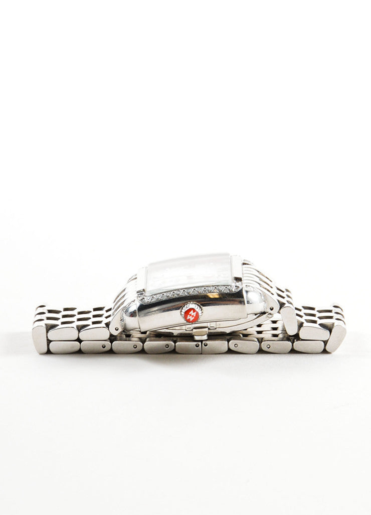 "Michele Stainless Steel and .30 TCW Diamond Band ""Milou"" Watch Sideview"