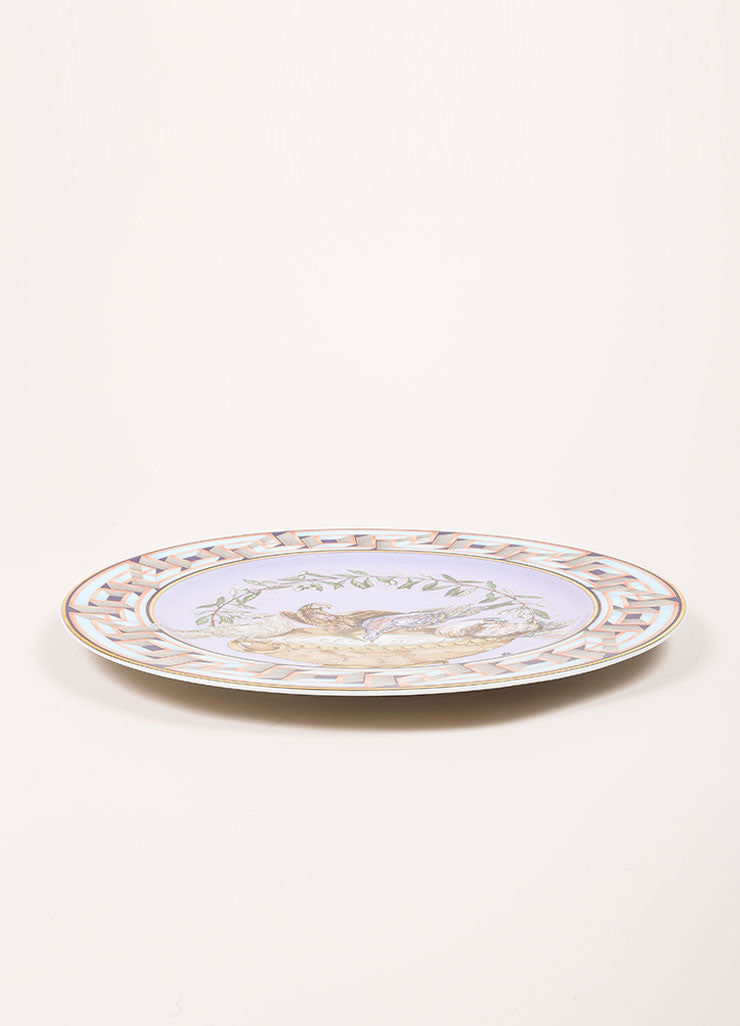 "Versace Rosenthal ""A World of Peace"" 12 inch Limited Edition Service Plate Sideview"