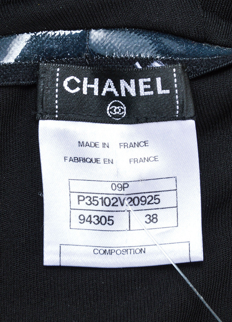 Chanel Black Jersey Pleated Corset Strapless Dress Brand