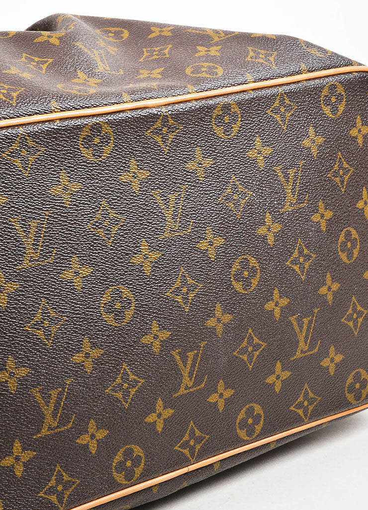 "Louis Vuitton Brown Coated Canvas Monogram ""Palermo GM"" Tote Bag Bottom View"