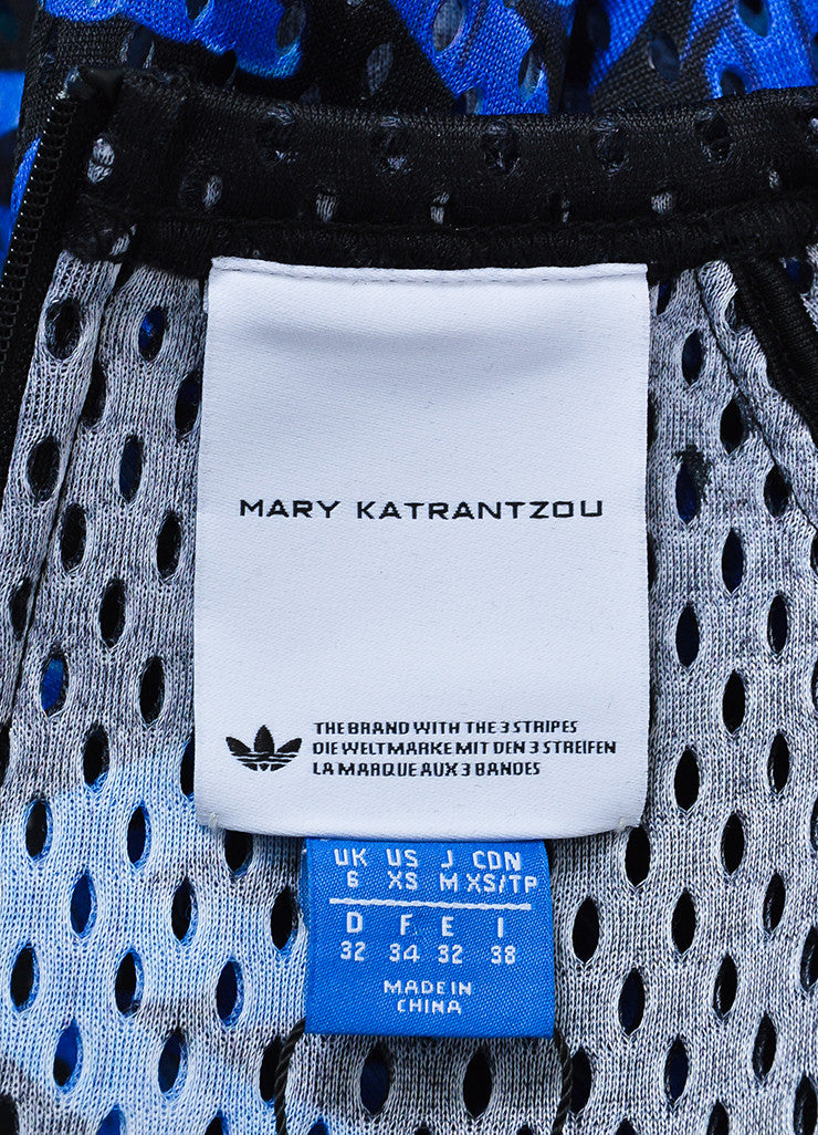 "Black and Blue Perforated Mary Katrantzou x Adidas ""Monster Marathon"" Long Sleeve Top Brand"