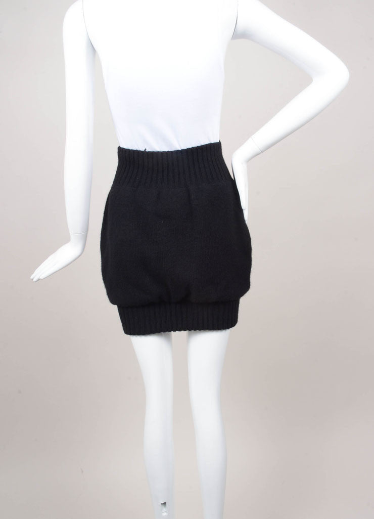Black Cashmere Sweater Skirt