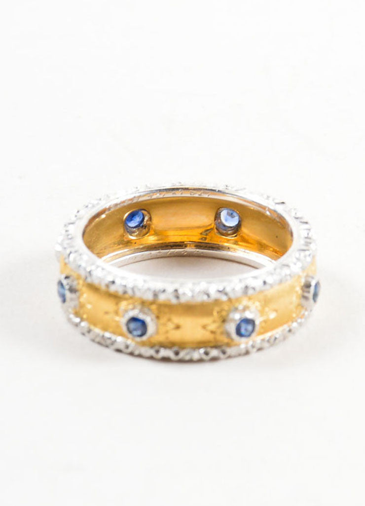 "Buccellati Sapphire and 18K Yellow Gold ""Eternelle Capri"" Ring Detail"
