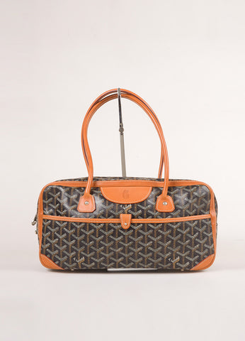 "Goyard Black Coated Canvas Hand Painted Printed Monogram ""St. Martin"" Bag Frontview"