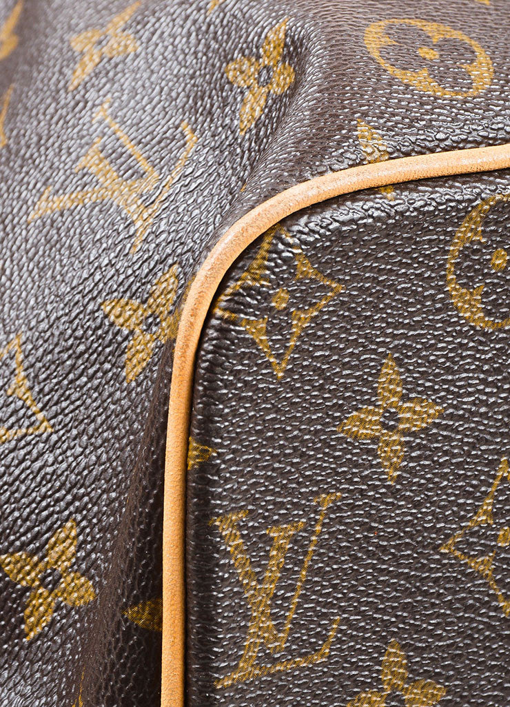 "Louis Vuitton Brown Coated Canvas Monogram ""Palermo GM"" Tote Bag Detail"