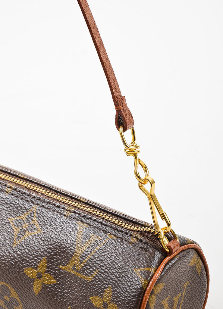 "Louis Vuitton Tan and Brown Coated Canvas Monogram ""Mini Papillon Pochette"" Bag Detail 2"