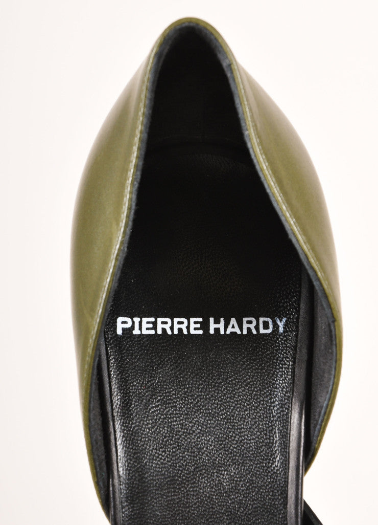 "Pierre Hardy New In Box Black and Green Pointed Toe D'Orsay ""Carryovers"" Pumps Brand"