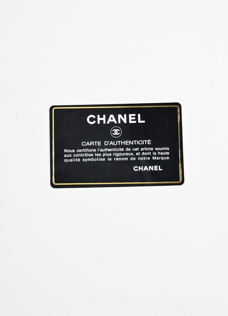 "äó¢íšíóChanel Brown Lambskin Gold Toned Turn Lock ""Medium Double Flap"" Bag Authentication Card"