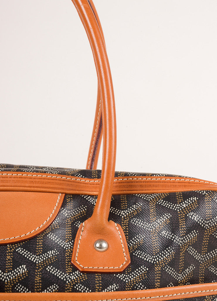 "Goyard Black Coated Canvas Hand Painted Printed Monogram ""St. Martin"" Bag Detail 2"
