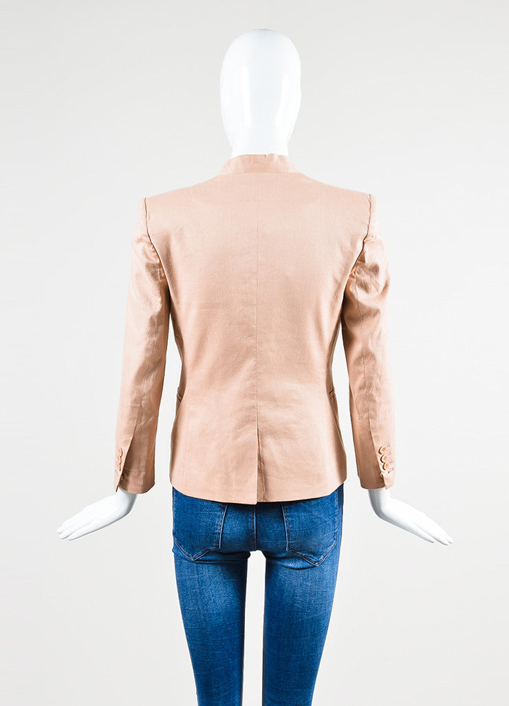 HELMUT Helmut Lang Blush Pink Blazer Jacket Backview