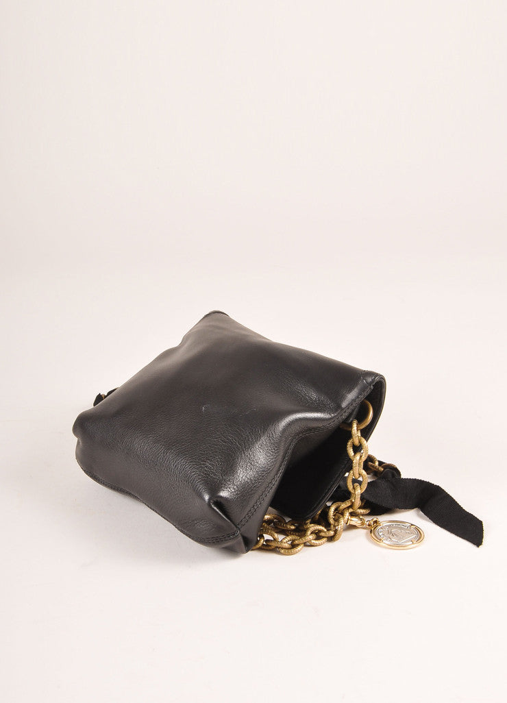 "Lanvin Black Leather ""Happy Mini Pop"" Bag Sideview"