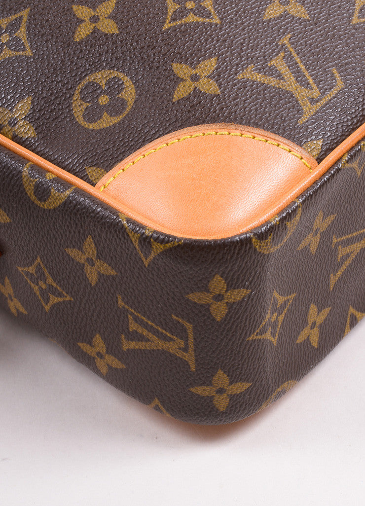 "Louis Vuitton Brown Coated Canvas Leather Monogram ""Trocadero 27"" Cross Body Bag Detail"