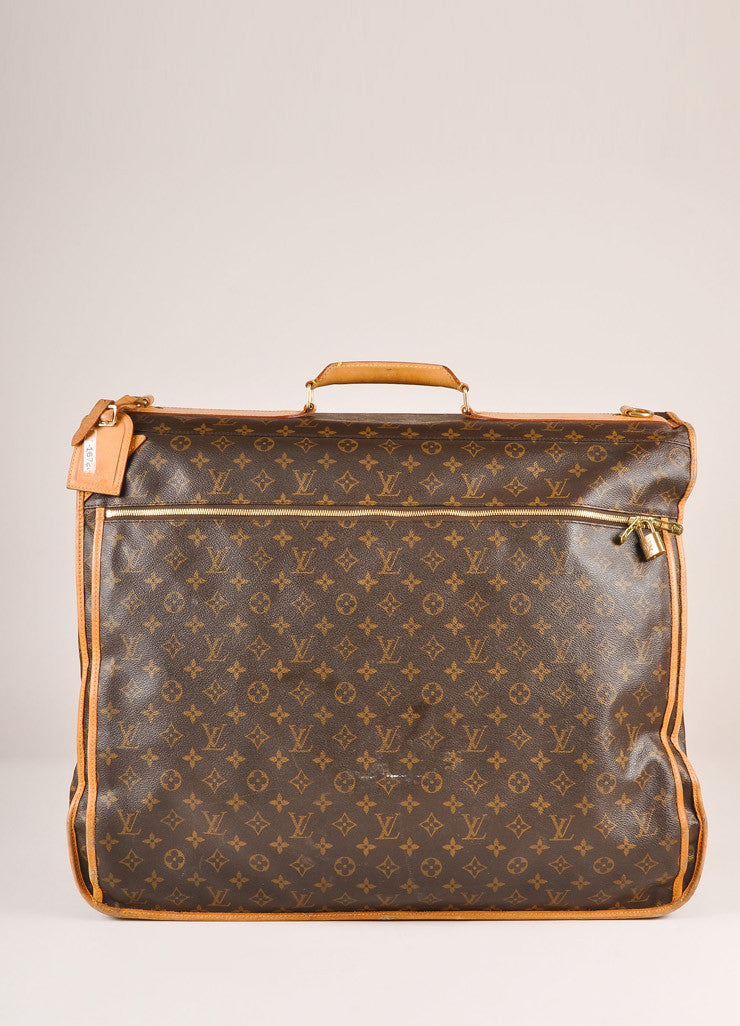 Louis Vuitton Brown and Tan Monogram Coated Canvas Garment Bag Frontview