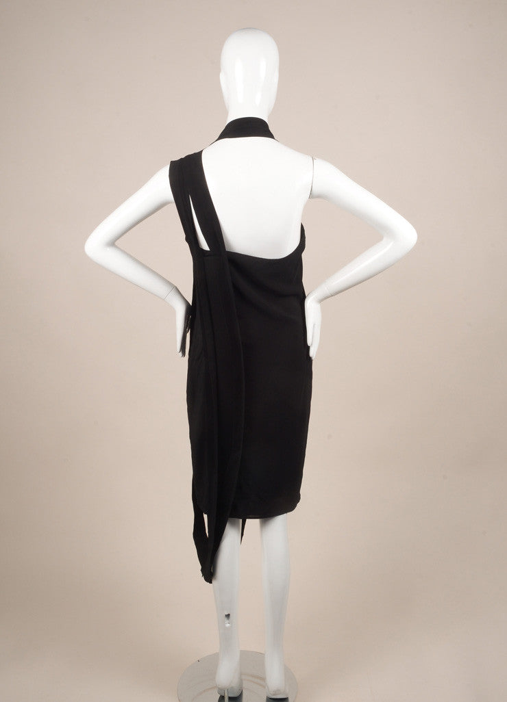 Maison Martin Margiela New With Tags Black Jersey Strappy One Shoulder Dress Backview