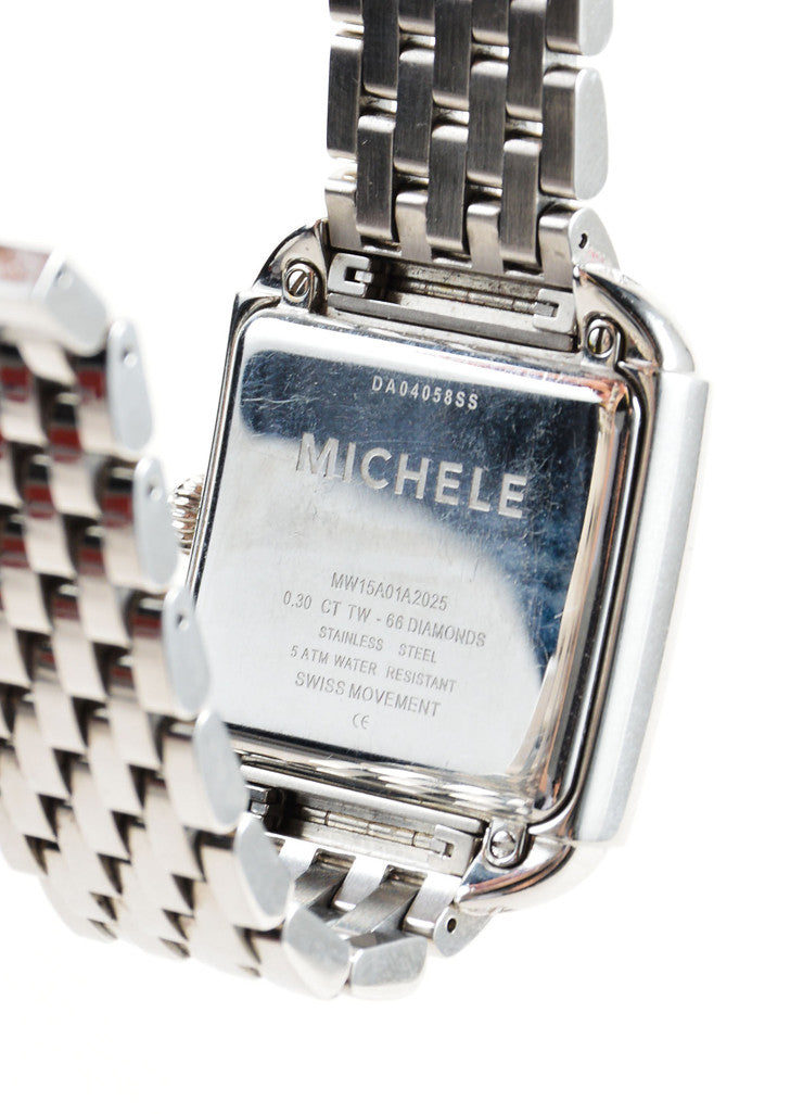 "Michele Stainless Steel and .30 TCW Diamond Band ""Milou"" Watch Brand"