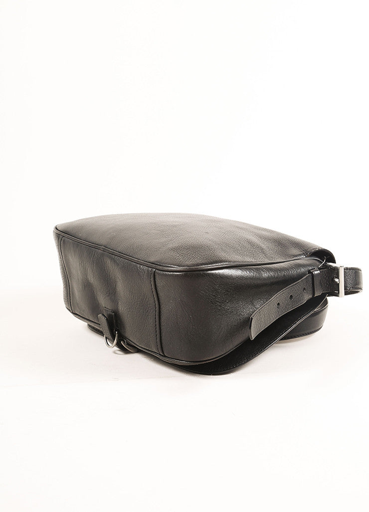 Prada Black Leather Saddle Bag Bottom View