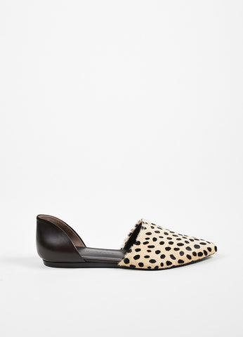 Brown Jenni Kayne Leopard Print Pony Hair Pointed To D'Orsay Flats