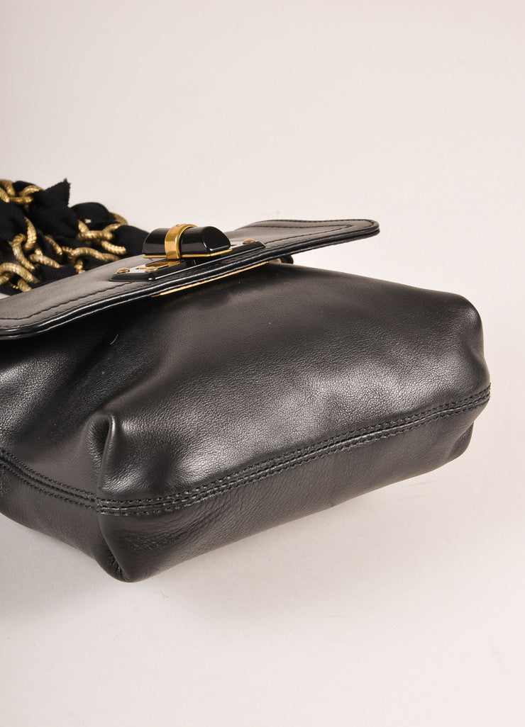 "Lanvin Black Leather ""Happy Mini Pop"" Bag Bottom View"