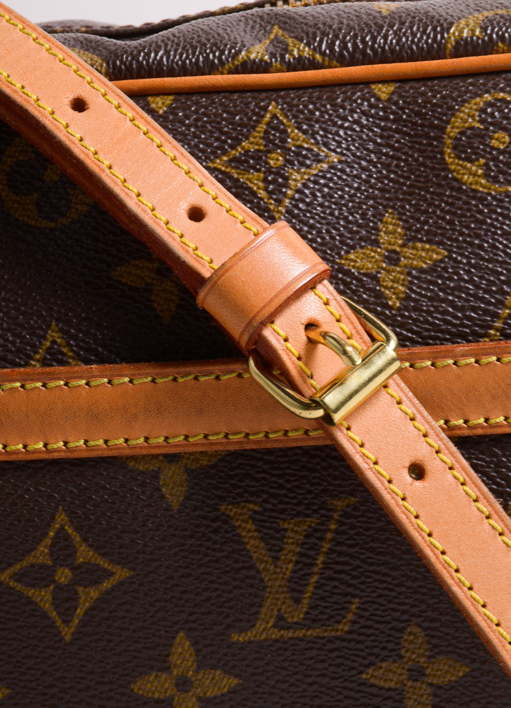 "Louis Vuitton Brown Coated Canvas Leather Monogram ""Trocadero 27"" Cross Body Bag Detail 2"